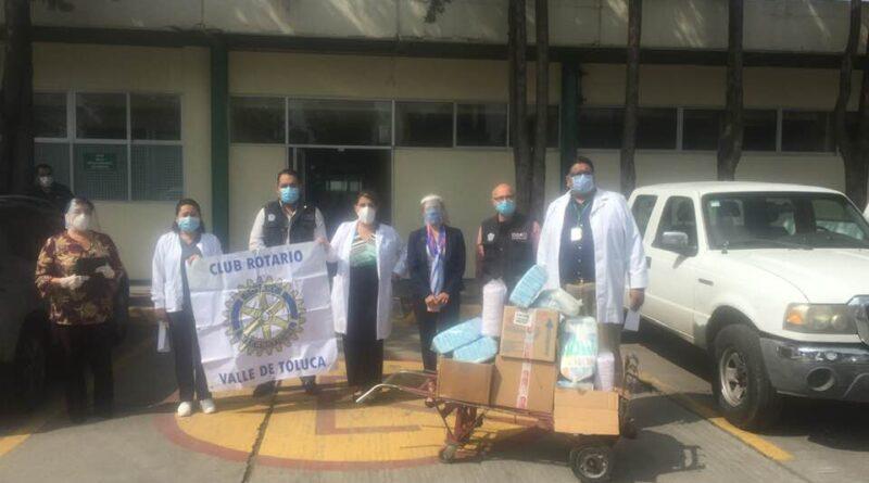 Damas Voluntarias del Club Rotario Valle de Toluca donan insumos médicos al hospital Nicolás San Juan en Toluca