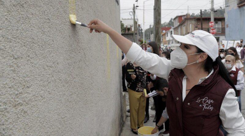IDENTIDAD Y PERTENENCIA Se pintan más de 260 fachadas en la cabecera Municipal de Metepec