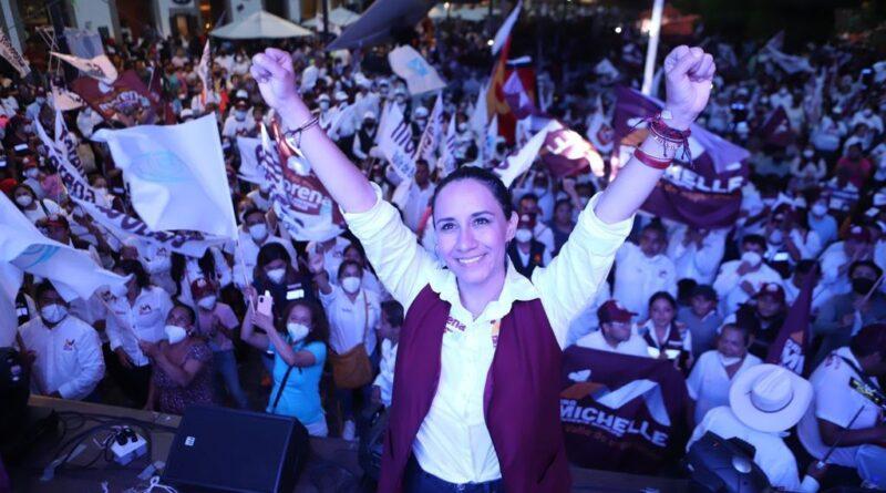 Tras obscuridad y corrupción, estamos a días del triunfo de Morena en Valle de Bravo: Michelle Núñez